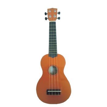 WIKI UK10G/OR -  гитара укулеле сопрано, клен, цвет - оранжевый глянец, чехол в комплекте