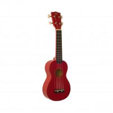 WIKI UK10G/RD -  гитара укулеле сопрано, клен, цвет - красный глянец,чехол в комплекте