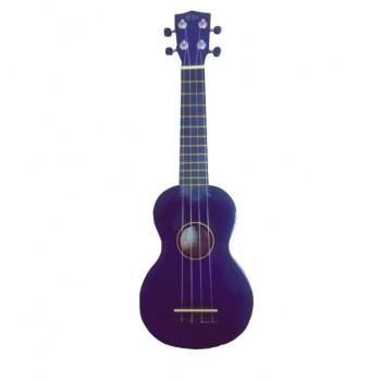 WIKI UK10G/VLT -  гитара укулеле сопрано, клен, цвет - фиолетовый глянец, чехол в комплекте