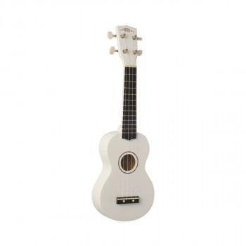 WIKI UK10G/WHT -  гитара укулеле сопрано, клен, цвет белый глянец, чехол в комплекте