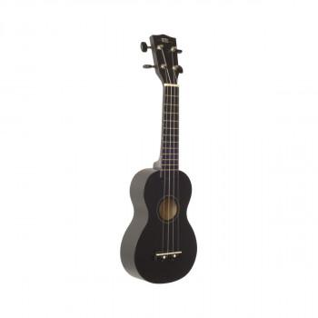 WIKI UK10S/BK -  гитара укулеле сопрано, клен, цвет черный матовый, чехол в компл