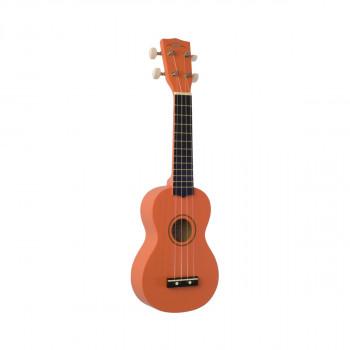 WIKI UK10S/OR -  гитара укулеле сопрано, клен, цвет оранжевый матовый, чехол в комплекте