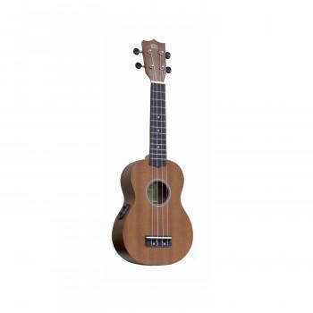 WIKI UK20SE - гитара укулеле сопрано с подключением, красное дерево,цвет натуральный,