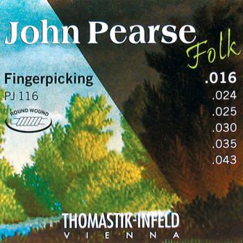 Thomastik PJ116 John Pearse Комплект струн для акустической гитары нейлон 016-043