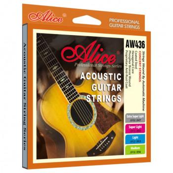 Alice AW436P-SL Комплект струн для акустической гитары фосфорная бронза 11-52