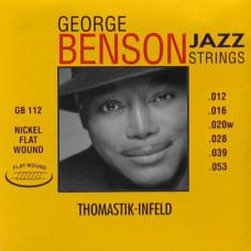 Thomastik GB112 George Benson Jazz Комплект струн для акустической гитары плоская оплетка 12-53
