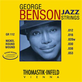 Thomastik GR112 George Benson Jazz Комплект струн для акустической гитары круглая оплетка 12-53