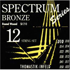 Thomastik SB210 Spectrum Bronze Комплект струн для 12-струнной акустической гитары бронза 10-50