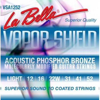 La Bella VSA1252 Vapor Shield Комплект струн для акустической гитары фосф.бронза 12-52