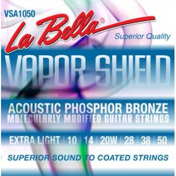 La Bella VSA1050 Vapor Shield Комплект струн для акустической гитары фосф.бронза 10-50
