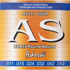 Fedosov AS111 Brass Round Wound Комплект струн для акустической гитары латунь 11-52