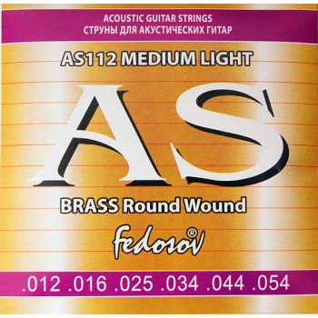 Fedosov AS112 Brass Round Wound Комплект струн для акустической гитары латунь 12-54