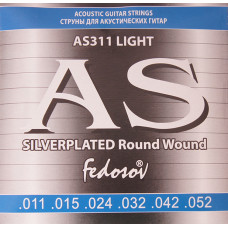 Fedosov AS311 Silverplated Round Wound Комплект струн для акустической гитары п/медь 11-52