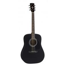 Parkwood W81-BKS Акустическая гитара черная с чехлом