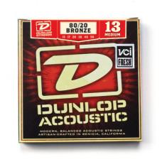 Dunlop DAB1356 Комплект струн для акустической гитары бронза 80/20 Medium 13-56