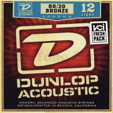 Dunlop DAB1254 Комплект струн для акустической гитары бронза 80/20 Light 12-54