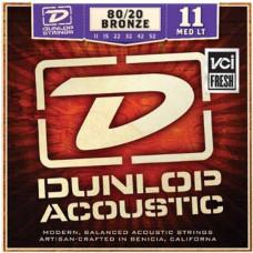 Dunlop DAB1152 Комплект струн для акустической гитары бронза 80/20 Medium Light 11-52