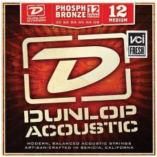 Dunlop DAP1252J Комплект струн для 12-струнной акустической гитары фосф.бронза Medium 12-52