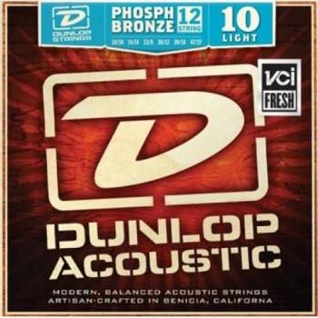 Dunlop DAP1047J Комплект струн для 12-струнной акустической гитары фосф.бронза Light 10-47