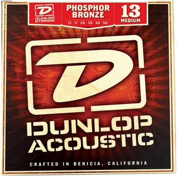 Dunlop DAP1356 Комплект струн для акустической гитары фосф.бронза Medium 13-56
