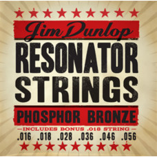 Dunlop DOP1656 Комплект струн для резонаторной гитары фосф.бронза 16-56