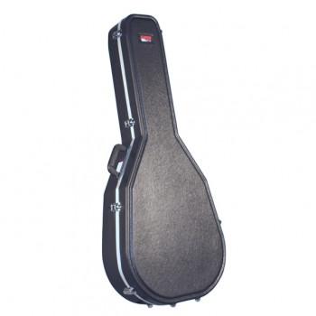 GATOR GC-JUMBO - пластиковый кейс для гитар типа JUMBO, делюкс, черный, вес 5.53 кг
