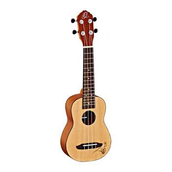 Ortega RU5-SO RU Series Spruce Укулеле сопрано матовый