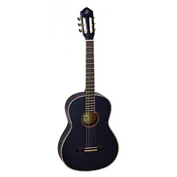 Ortega R221SNBK Family Series Классическая гитара размер 4/4 узкий гриф черная с чехлом