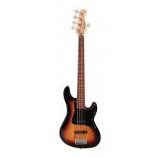 Cort GB35JJ-3TS GB Series Бас-гитара 5-струнная санберст
