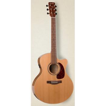 Simon & Patrick 033751 CWGT MiniJumbo Cedar QIT Электро-акустическая гитара с чехлом