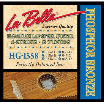 La Bella HG-1558 Комплект струн для слайд-гитары строй G фосфорная бронза 15-58