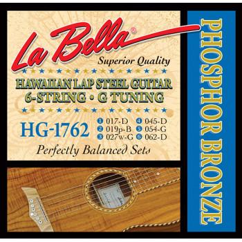 La Bella HG-1762 Комплект струн для слайд-гитары строй G фосфорная бронза 17-62