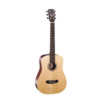 Cort EARTH-MINI-F Earth Series Электро-акустическая гитара 3/4 цвет натуральный с чехлом