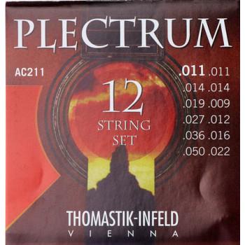 Thomastik AC211 Plectrum Комплект струн для 12-струнной акустической гитары сталь/бронза 11-50