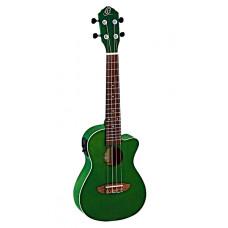 Ortega RUFOREST-CE Earth Series Укулеле концертный со звукоснимателем зеленый