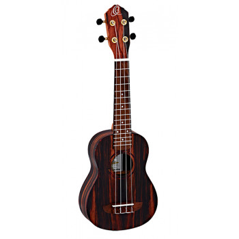 Ortega RUEB-SO Ebony Series Укулеле сопрано с чехлом