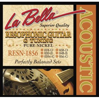La Bella RESN-1856 Pure Nickel G Комплект струн для резонаторной гитары никель 18-56