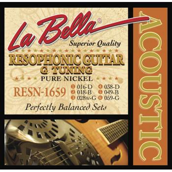 La Bella RESN-1659 Pure Nickel G Комплект струн для резонаторной гитары никель 16-59