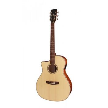 Cort GA-FF-LH-NAT Grand Regal Series Электро-акустическая гитара с вырезом леворукая натуральный