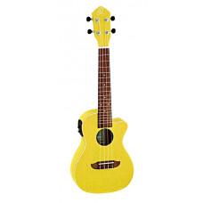 Ortega RUSUN-CE Earth Series Укулеле концертный со звукоснимателем с вырезом желтый