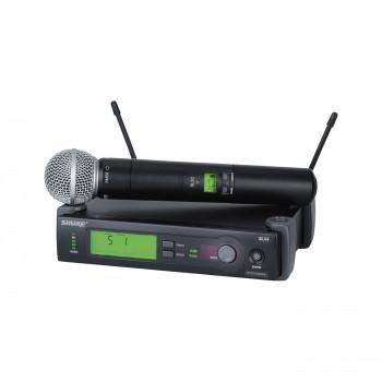 SHURE SLX24E/SM58 P4 702 - 726 MHz - профессиональная двухантенная радиосистема с капсюлем  SM58