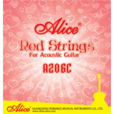 Alice A206C-SL Super Light Комплект струн для акустической гитары красная медь 11-52