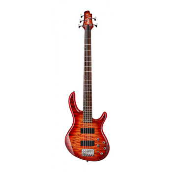 Cort Action-DLX-V-Plus-CRS Action Series Бас-гитара 5-струнная красный санберст