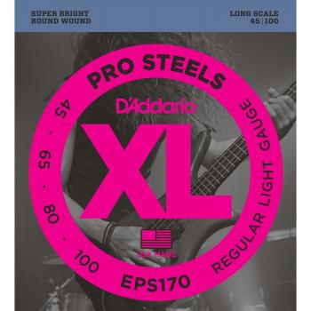 D`Addario EPS170 - струны для БАС-гит, ProSteels/Long, 45-100