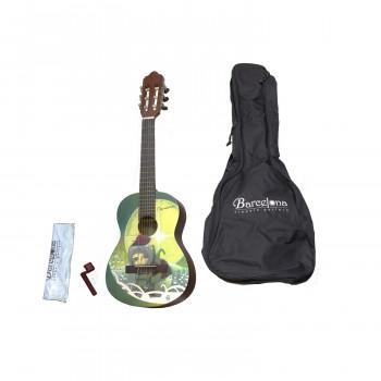 Barcelona CG10K/AMI 1/4 - Набор: классическая гитара детская, размер 1/4 и аксессуары