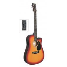 Caraya F631CEQ-BS Электро-акустическая гитара с вырезом санберст