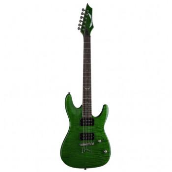 Dean C350 TGR - электрогитара, тип «Ibanez»,24 лада 25 1/2, HH 1V+1T, цв. прозр. зеленый