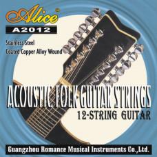 Alice A2012 Комплект струн для 12-струнной гитары медь [15]