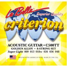 La Bella C500TT Criterion Комплект струн для акустической гитары 009-048