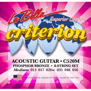 La Bella C520M Criterion Medium Комплект струн для акустической гитары 013 - 053
